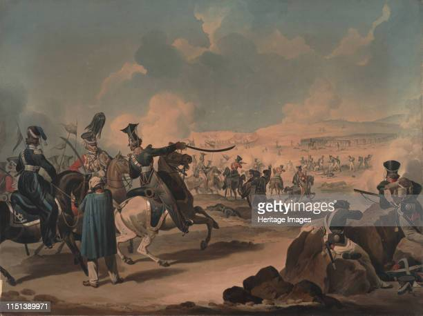 Russian cavalry attacking French infantry at Borodino, ca 1813. From a private collection. Artist Dighton, Denis .