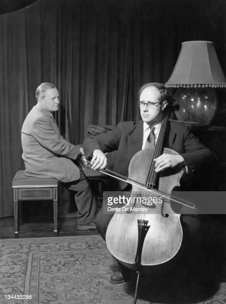 Russian cellist and composer Mstislav Rostropovich 1956