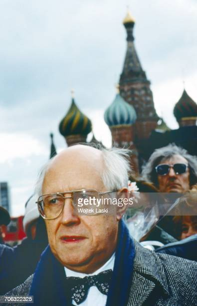 Russian cellist and conductor Mstislav Rostropovich during his first visit to his homeland since 1974 when he was forced into exile Moscow Red Square...