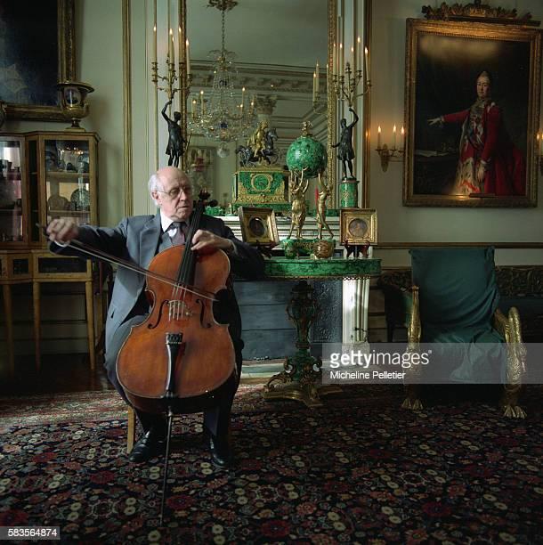 Russian Cellist Mstislav Rostropovich