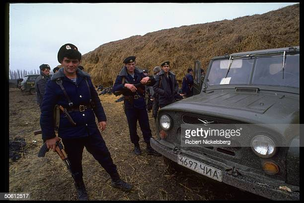 Russian Chechen troops old foes at odds re Chechen try at entry into OssetianIngush ethnic war in Chechnya's autonomous neighbors N Ossetia Ingushetia