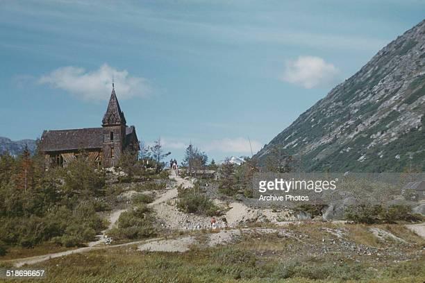 A Russian church at Carcross Yukon Territory Canada 1958