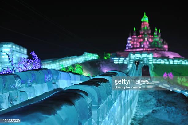 Russian church at Harbin ice festival