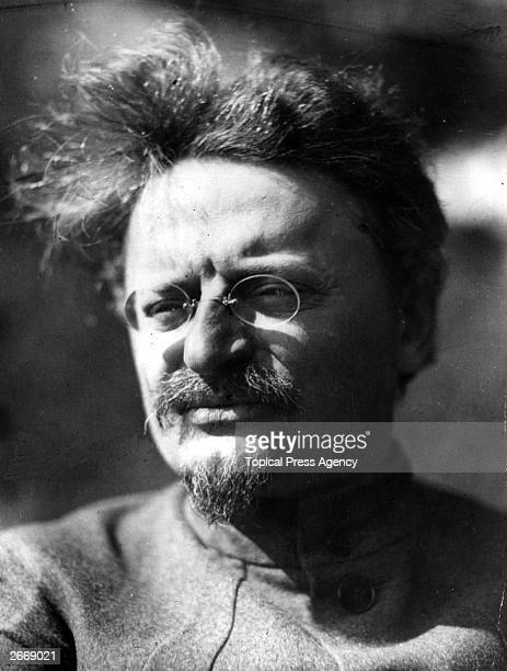 Russian Commissar of War Leon Trotsky in the tropical garden of his villa at SukhamKale on the Black Sea in the Caucasus