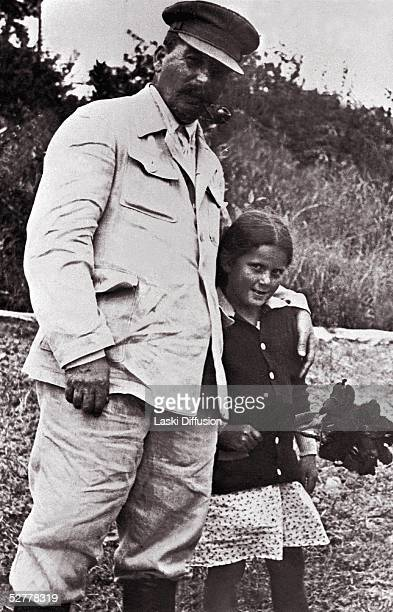 Russian Communist Party Leader Josef Stalin with his daughter Svetlana Alliluyeva Moscow 1933