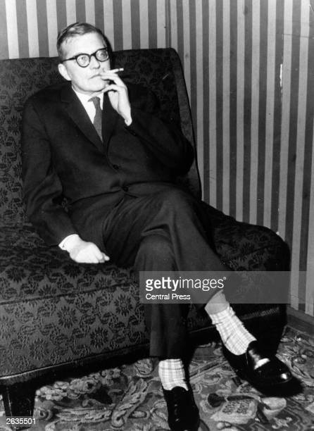 Russian composer Dmitri Shostakovich during a break in rehearsals for the western premiere of his opera 'Katerina Ismailova' at the Royal Opera House...