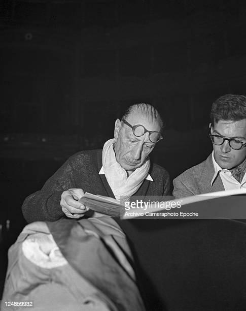 Russian composer Igor Fedorovich Stravinsky preparing the concert Venice 1951