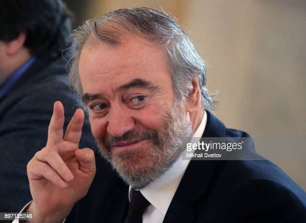 Russian conductor and opera theatre director Valery Gergiev attends the Presidential Culture Council meeting at the Kremlin Moscow Russia December...