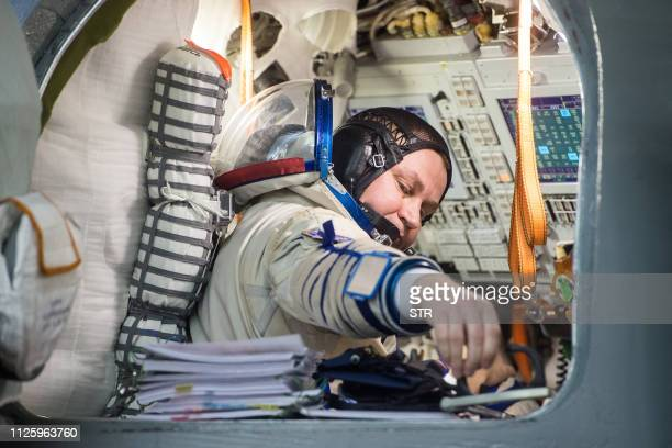 Russian cosmonaut Alexey Ovchinin a member of the International Space Station expedition 59/60 attends his final exam at the Gagarin Cosmonauts'...