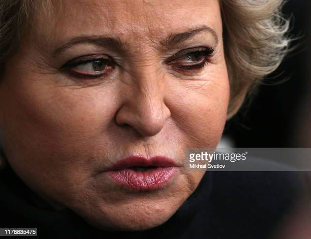 Russian Council of the Federation Speaker Valentina Matviyenko attends the openings of new monument to former Russian Prime Minister Yegeny Primakov...