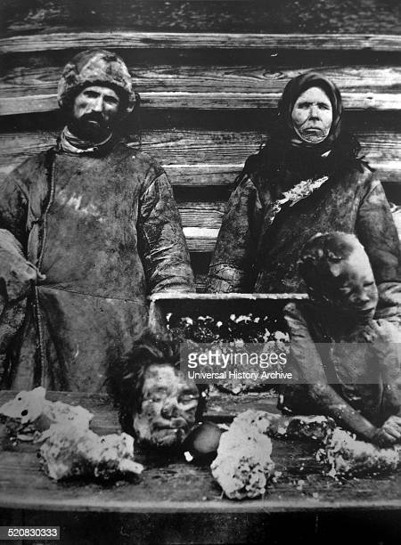 A Russian couple sell human parts on a market People of Russia began to eat and sell human limbs due to the food struggle part of the Russian famine...
