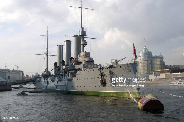 russian cruiser aurora in saint petersburg - argenberg stock pictures, royalty-free photos & images