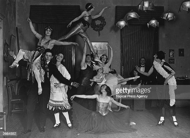 Russian dancer and teacher Princess Seraphine Astafieva , with pupils in her studio in Chelsea. She was in the Diaghilev Company from 1909-11, after...
