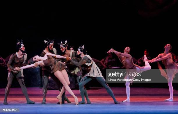 Russian dancer Anna Nikulina at a dress rehearsal for the Bolshoi Ballet production of 'Spartacus' during the Lincoln Center Festival at the David H...