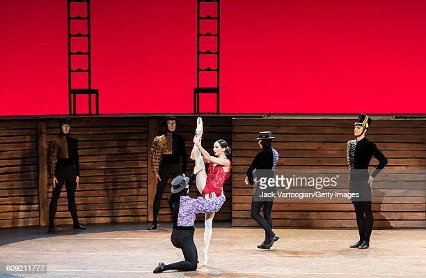 Russian dancer Diana Vishneva , with the company of the Mariinsky Ballet, performs 'Carmen Suite' during 'A Tribute to Maya Plisetskaya' at the BAM...