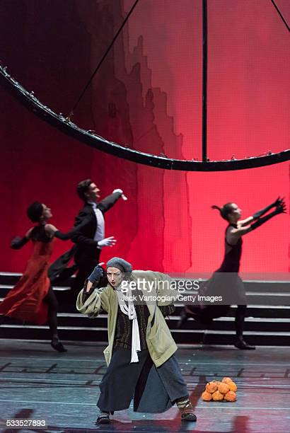 Russian dancer Elena Bazhenova as the 'Fairy-Tramp' performs in the Mariinsky Ballet production of Sergei Prokofiev's 'Cinderella' choreographed by...