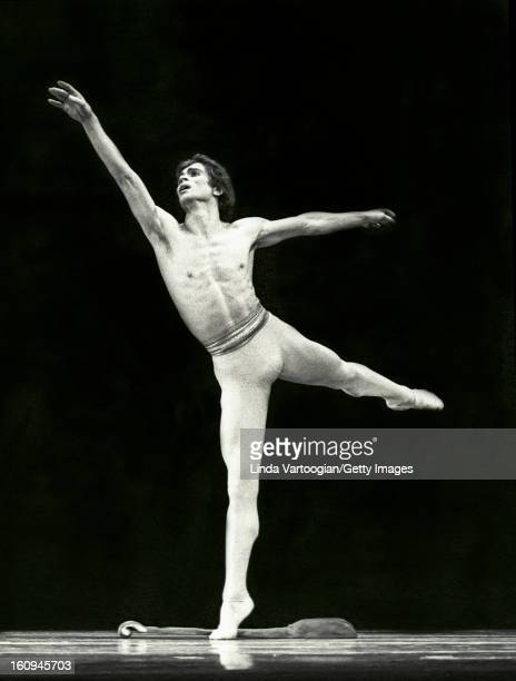 Russian dancer Rudolf Nureyev performs George Balanchine's 'Apollo' during a run of 'Nureyev and Friends' performances at the Uris Theatre New York...