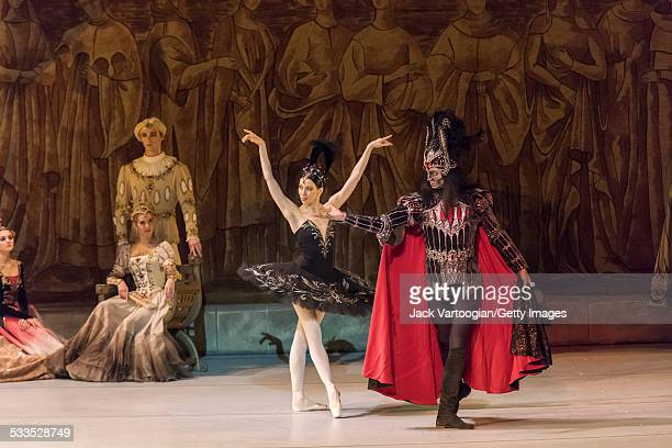 Russian dancers Viktoria Tereshkina and Andrei Yermakov perform in the Mariinsky Ballet production of Peter Ilyich Tchaikovsky's 'Swan Lake' with...