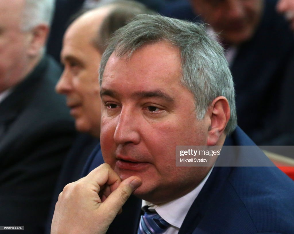 Russian Deputy Prime Minister Dmitry Rogozin attends the Prosecutor General's Annual Board on March 14, 2017 in Moscow, Russia.