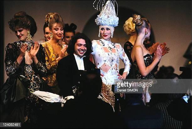 Russian designer Valentin Yudashkin fashion show at the Russian Embassy in Paris, France on January 31, 1991 - Russian fashion designer Valentin...