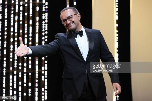 Russian director and member of the Feature Film Jury Andrey Zvyagintsev arrives on stage on May 8 2018 for the opening ceremony of the 71st edition...