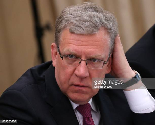 Russian economist Alexey Kudrin attends the Council for Strategic Development and Priority Project's meeting at Novo Ogaryovo state residence on July...