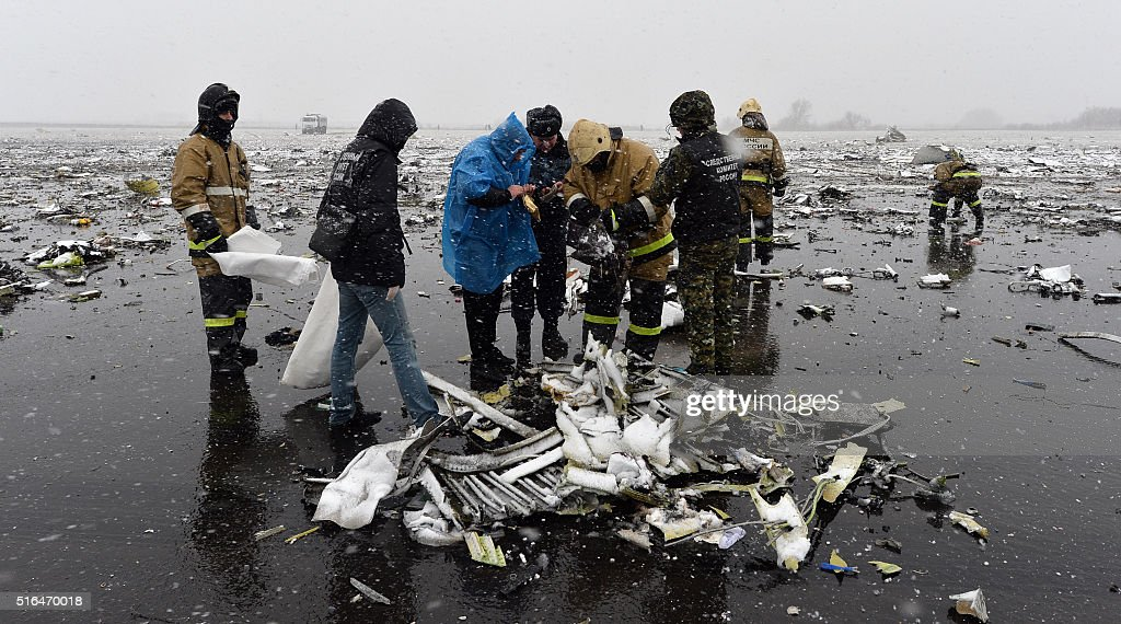 RUSSIA-UAE-AVIATION-ACCIDENT-FLYDUBAI : News Photo