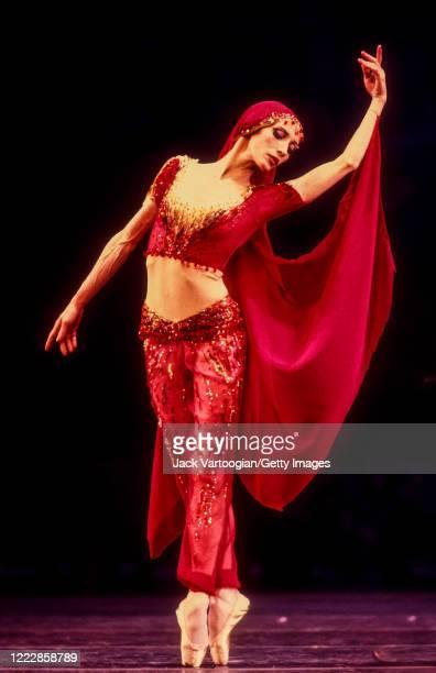 Russian emigre ballerina Natalia Makarova performs in the American Ballet Theatre's production of 'La Bayadere' at Lincoln Center's Metropolitan...