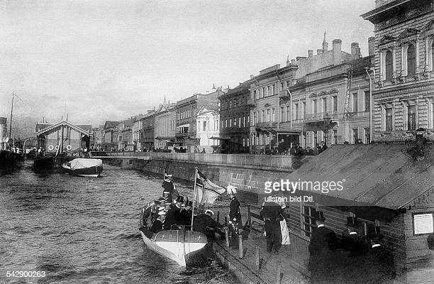 Russian Empire 1914 Voyage of prince Adalbert of Prussia to St Petersburg on board of SMS Charlotte The german ambassador returning from the welcome...