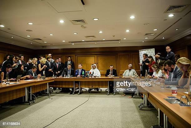 Russian Energy Minister Alexander Novak Mohammed bin Saleh alSada President of the Organization of Petroleum Exporting Countries and Qatar's Energy...