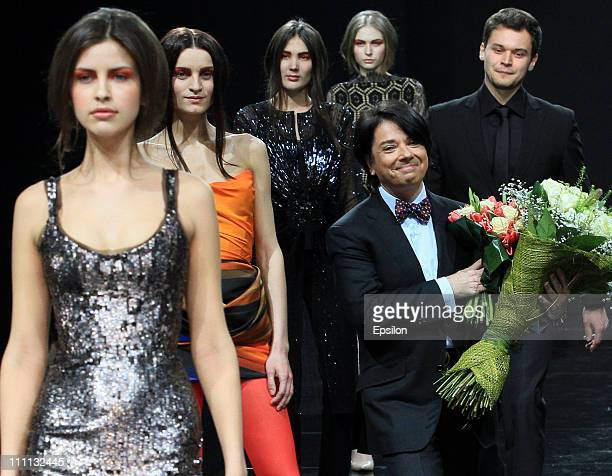 Russian fashion designer Valentin Yudashkin walks the runway after his show during the Volvo Fashion Week Moscow - Day 1 on March 29, 2011 in Moscow,...