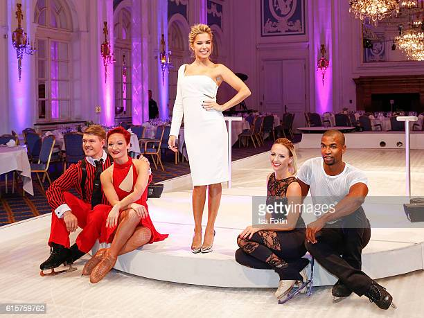 Russian figure scater Daria Perminova russian figure scater Evgueny Belianin dutch moderator Sylvie Meis german figure scater Annette Dytrt and...