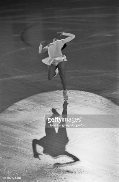 Russian figure skater Anna Levandi performs for the Soviet Union in a skating routine as part of the World Tour Gala at Richmond ice rink in south...