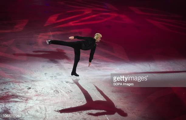 Russian figure skater Evgeni Plushenko seen performing on ice during the show Revolution on Ice Tour show is a spectacle of figure skating on ice...