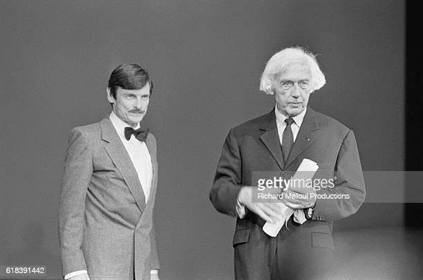 Russian film director Andrei Tarkovsky and French director Robert Bresson receive awards for creative cinema at the 1983 Cannes Film Festival