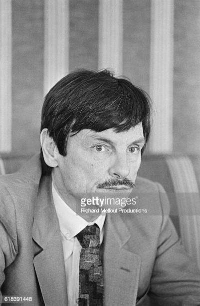 Russian film director Andrei Tarkovsky at the 1983 Cannes Film Festival where he received an award for creative cinema for his film 'Nostalgia'