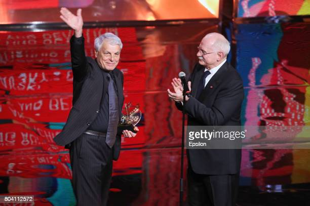 Russian film director Nikita Mikhalkov head of the Union of Russian Cinematographers president of the Moscow International Film Festival and Italian...