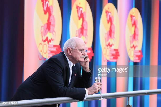Russian film director Nikita Mikhalkov head of the Union of Russian Cinematographers president of the Moscow International Film Festiva attends the...