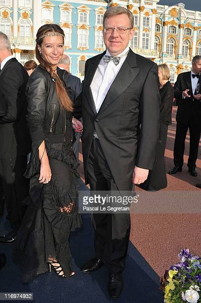 Russian Finance Minister Alexei Kudrin and Irina Kudrina attend the Montblanc New Voices Award 2011 Montblanc at Mariinsky Ball at Catherine Palace...