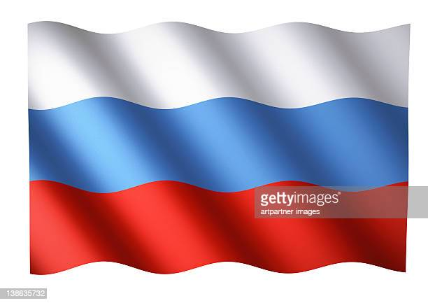 Russian flag waving or National Flag of Russia