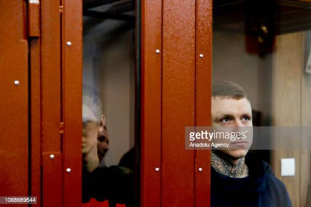 Russian footballers Pavel Mamaev and Aleksandr Kokorin appear at Moscow's Tverskoi District Court on charges of battery and hooliganism after getting...
