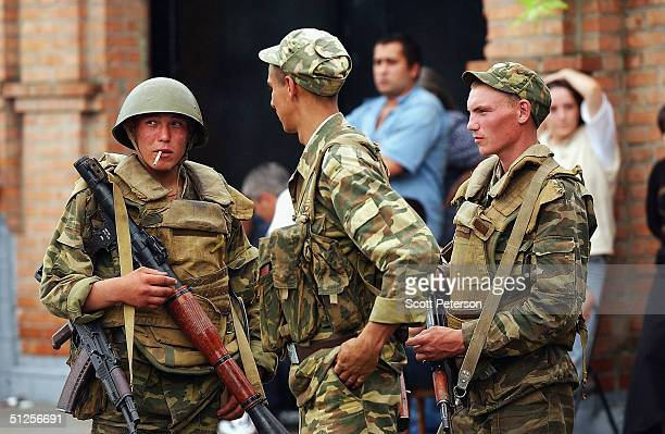 Russian forces brace for a siege around the school where some 350 hostages most of them women and children are being held by suspected Chechen...