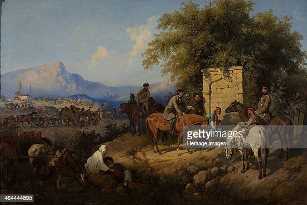 Russian Forces Crosses the Caucasus Mountains in Adjara, 1872. Found in the collection of the State Tretyakov Gallery, Moscow.