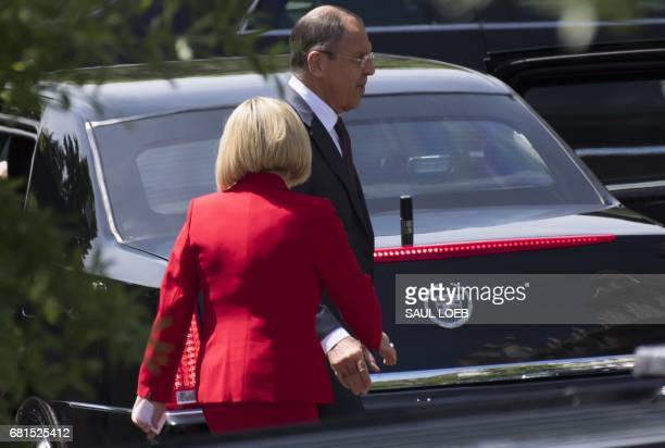 Russian Foreign Minister Sergei Lavrov leaves following a meeting with US President Donald Trump at the White House in Washington DC May 10 2017 /...