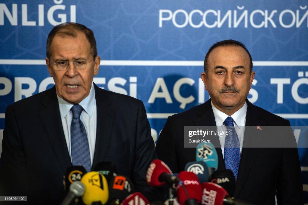 Putin And Erdogan Meet For TurkStream Gas Pipeline Opening Ceremony : News Photo