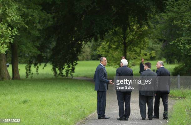 Russian Foreign Minister Sergey Lavrov German Foreign Minister FrankWalter Steinmeier Ukrainian Foreign Minister Pavlo Klimkin and French Foreign...