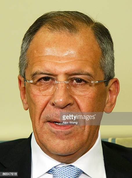 Russian Foreign Minister Sergey Lavrov is seen during a meeting with US President Barack Obama in the Oval Office of the White House May 7 2009 in...