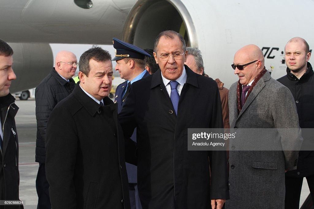 Russian Foreign Minister Lavrov in Serbia : Nachrichtenfoto