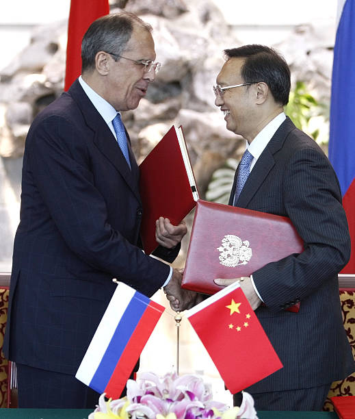 Russia And China Sign Border Agreement Pictures Getty Images