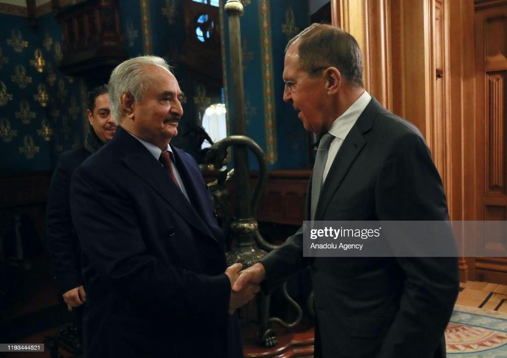 Russian delegation meet Khalifa Haftar in Moscow : News Photo
